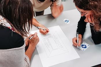 Mittels Placemat-Methode halten die Teilnehmenden ihre Gedanken zum künftigen Aufgabenprofil von iScouts im Thurgau fest.